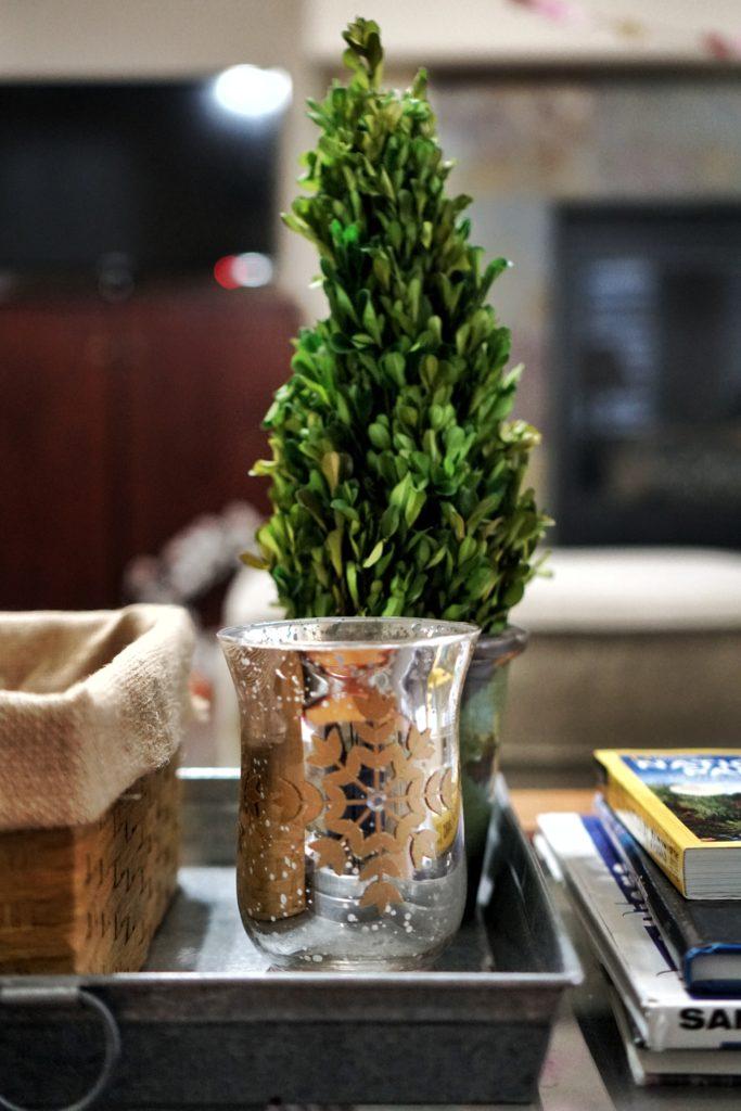 winter home updates mercury glass