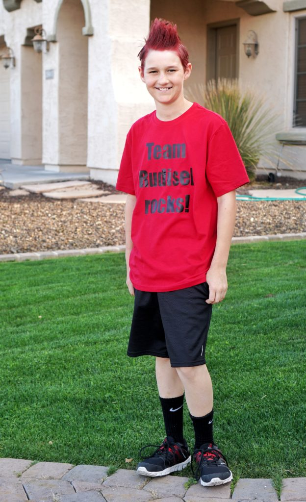 Field Day outfit for teen boys