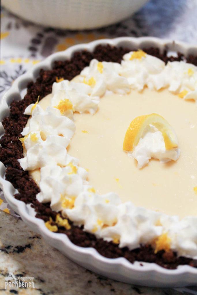 Playground Park Bench Lemon-Cream-Pie-with-Chocolate-Crust-4