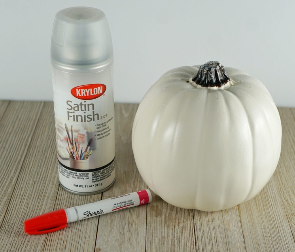 DIY baseball pumpkin supplies