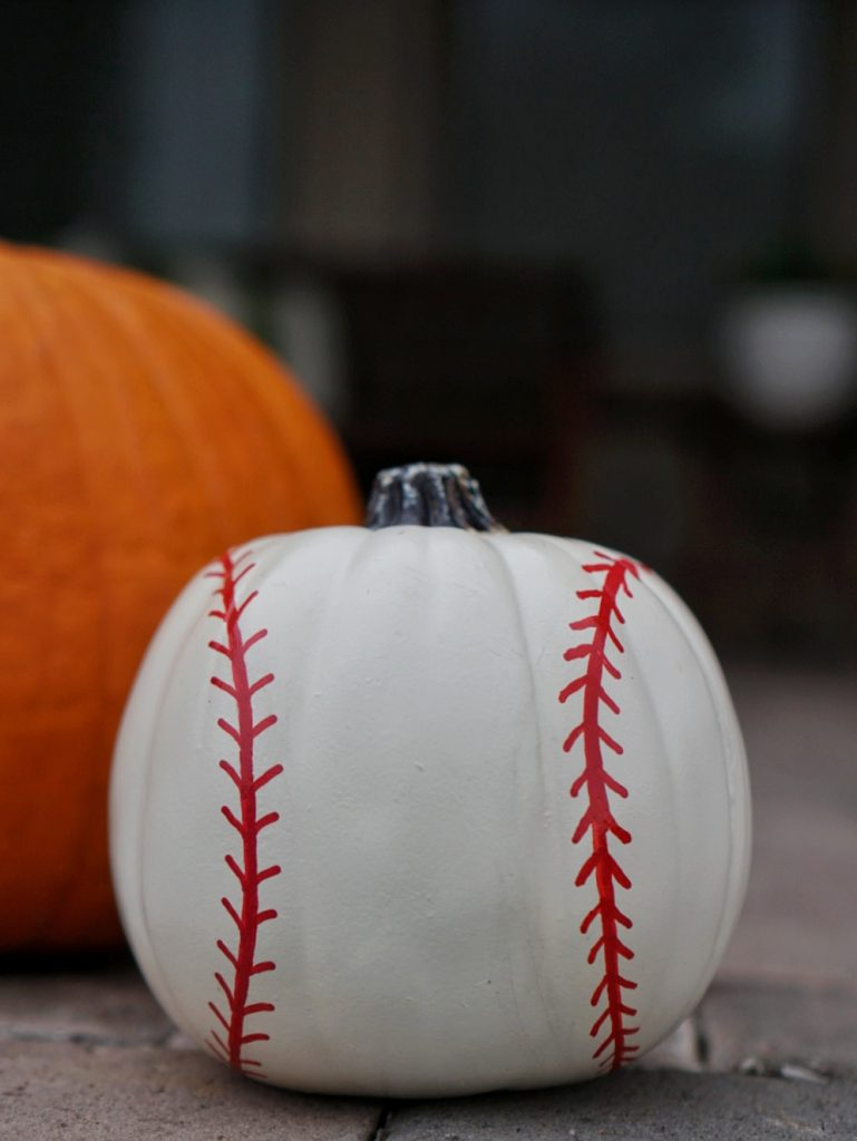 DIY Baseball Pumpkin