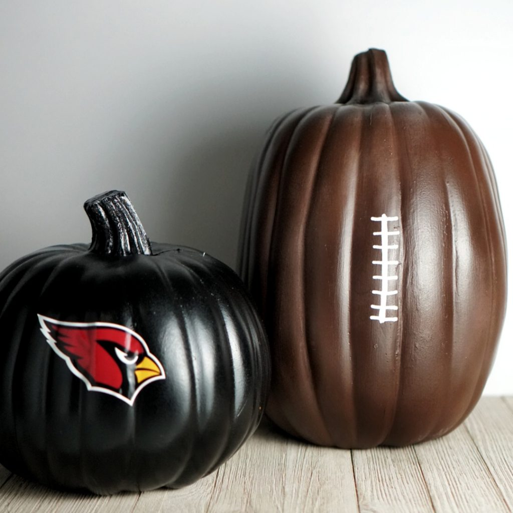Easy No-carve Football Sports pumpkin