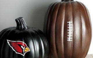 No-carve Halloween Football Pumpkin