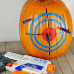 No-Carve Nerf Blaster Target Halloween Pumpkin