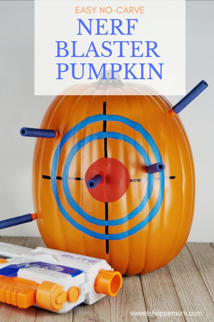 Nerf blaster DIY pumpkin design