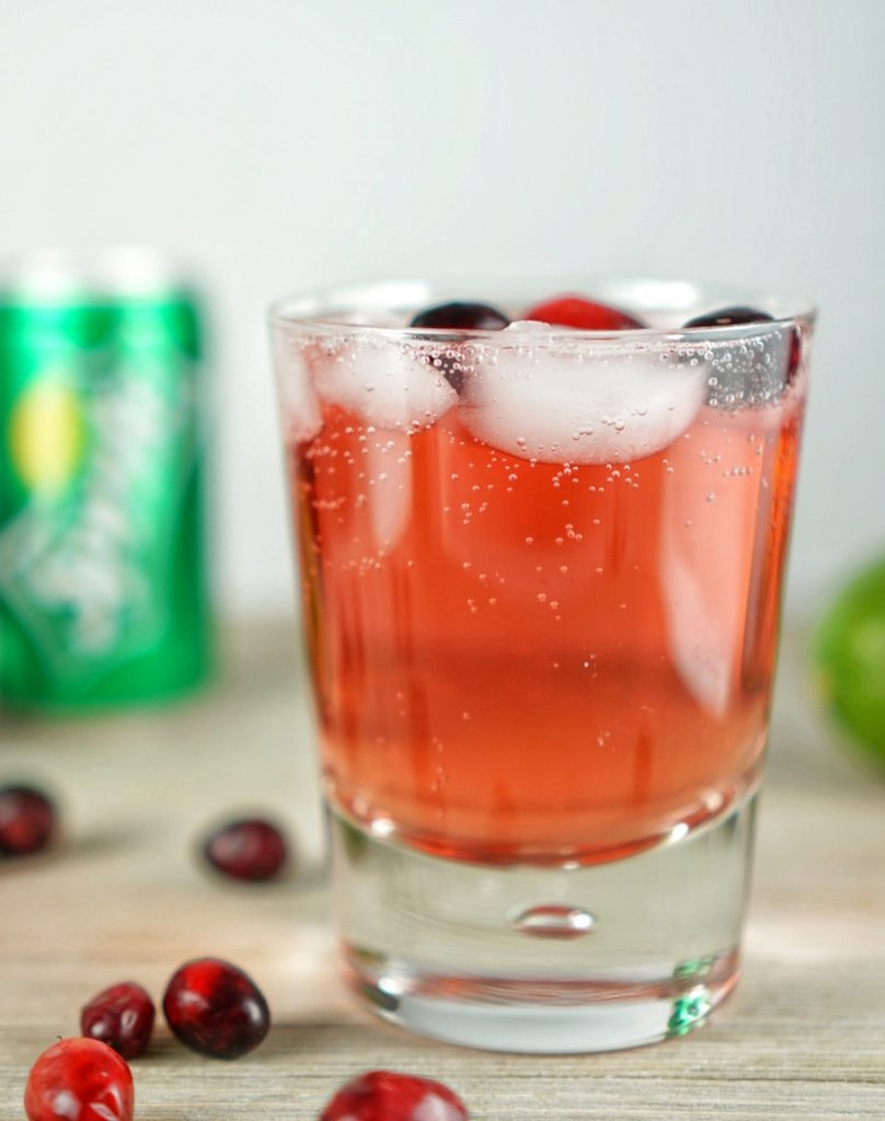 Holiday Cocktails Cranberry Lime Spritz