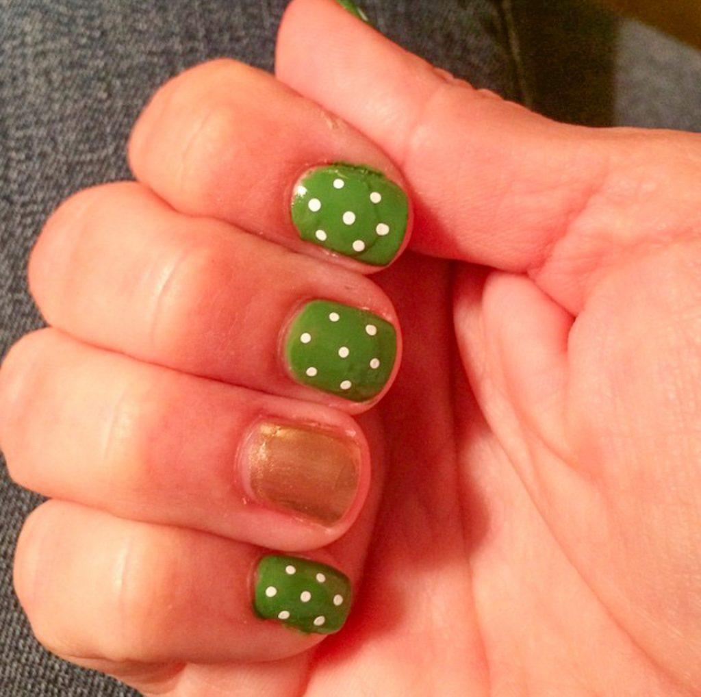 St. Patricks Day manicure