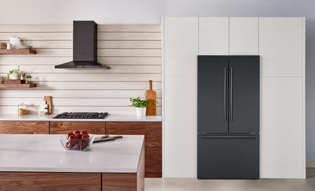 Bosch counter depth refrigerator black stainless