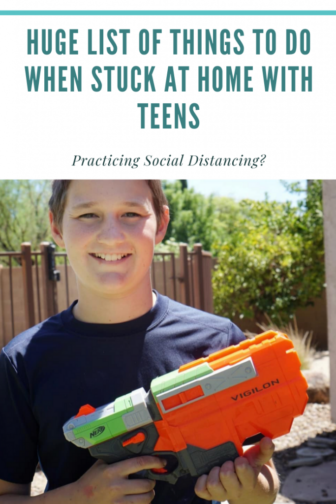 things to do when stuck at home with teens