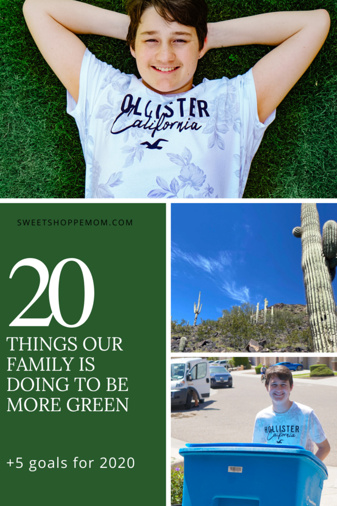 20 things our family is doing to be more GREEN