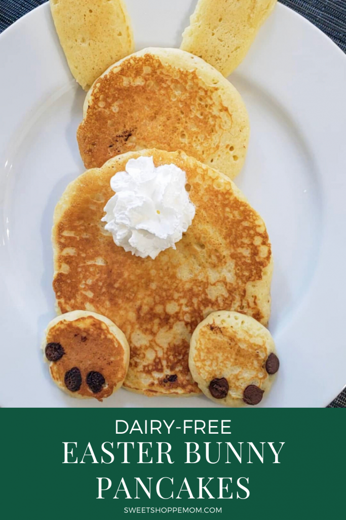 Dairy-free Easter Bunny Pancakes