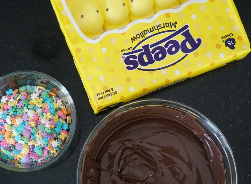 homemade chocolate dipped peeps