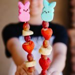 Easter Peeps Fruit Kabobs, a Fun and Healthy Treat