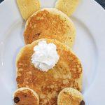 Dairy-free Vegan Easter Bunny Pancakes
