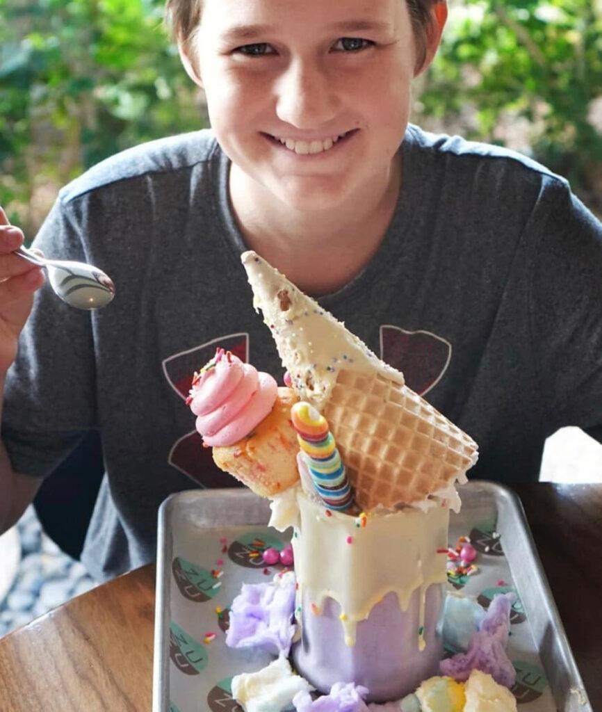 celebration graduation with ice cream