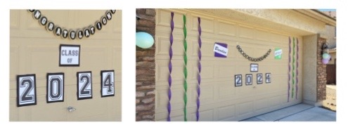 garage graduation decorations