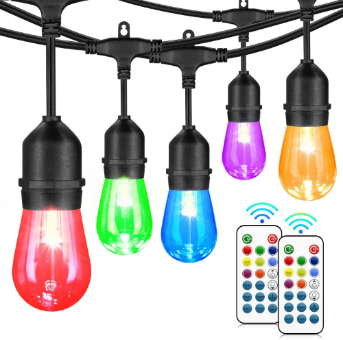 color changing outdoor string lights