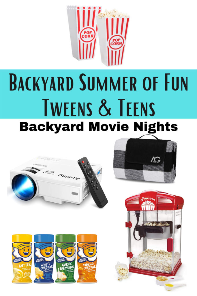 Backyard Summer of Fun backyard movie nights