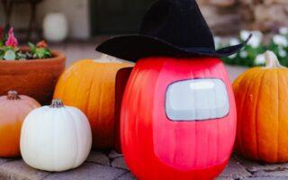 Among Us DIY Halloween Pumpkin