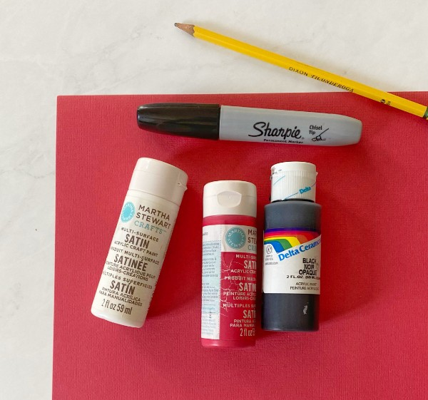 paint paper sharpie for Among Us pumpkin crafting