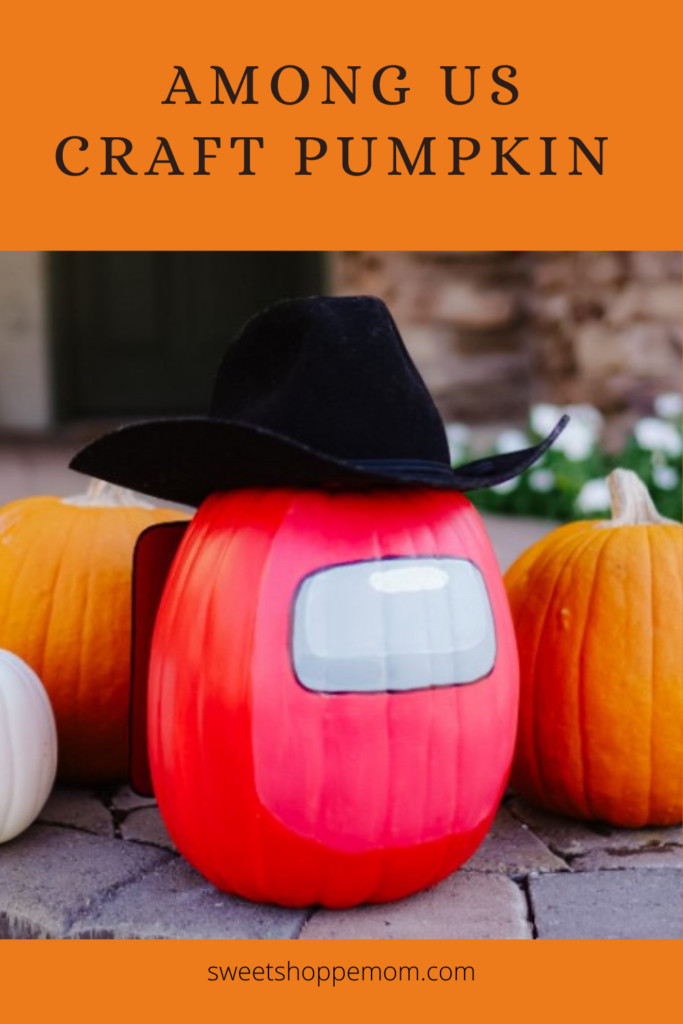 Among Us craft pumpkin tutorial