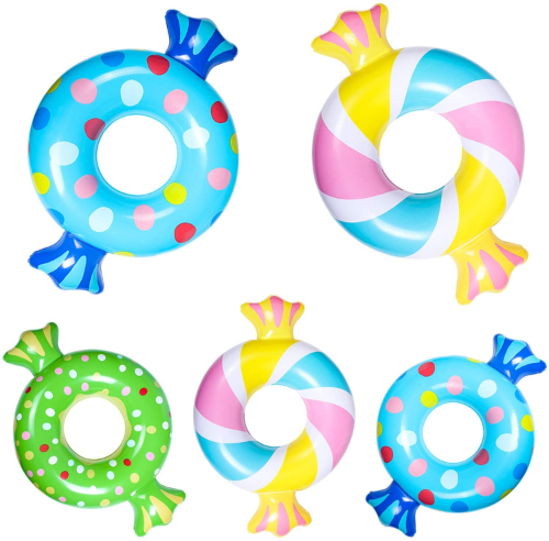 Candy rings pool floats