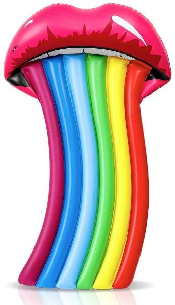 Rainbow lips pool float