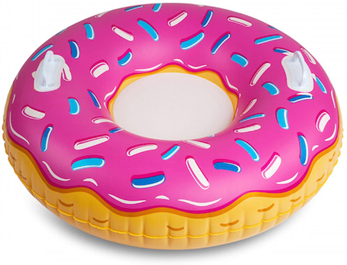 donut with sprinkles pool float