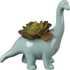 blue dinosaur pot