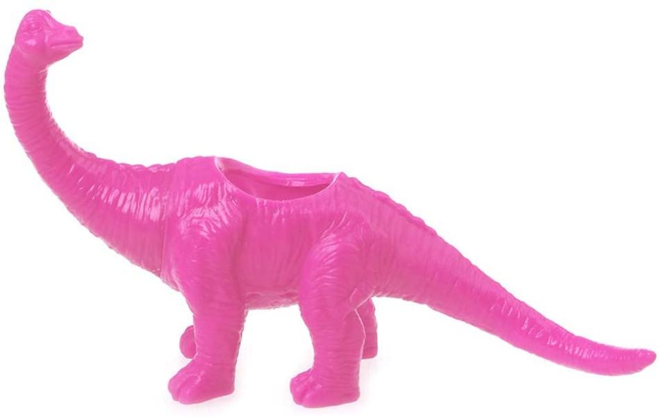 pink dinosaur planter