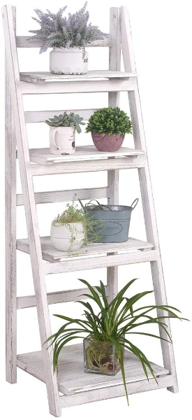 rustic 4 tier plant stand