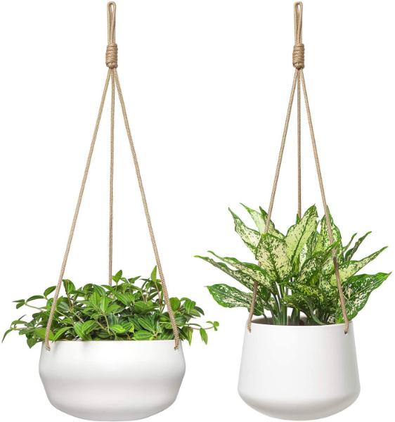 set of 2 hanging planters