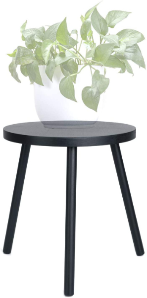 simple black round plant stand