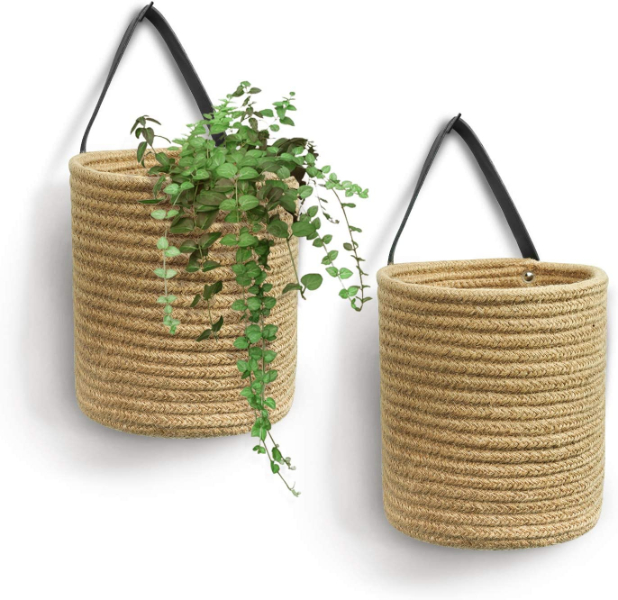 wall hanging rope planters