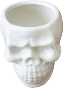 white skull pot
