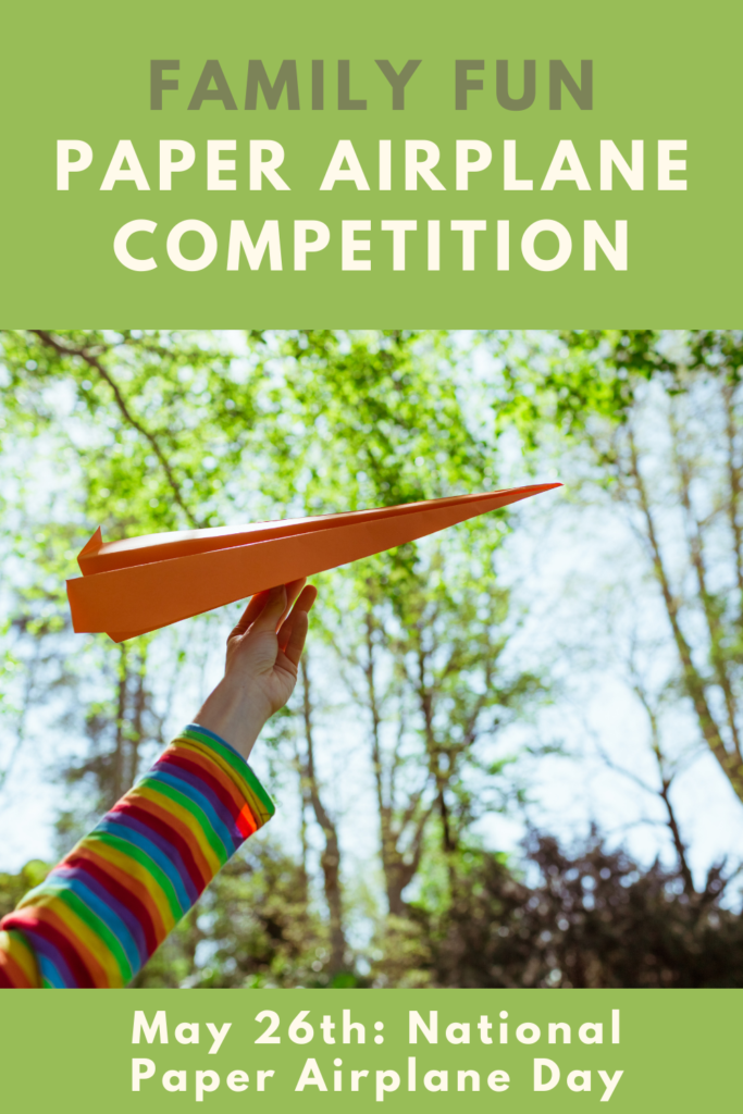 Family paper airplane competition